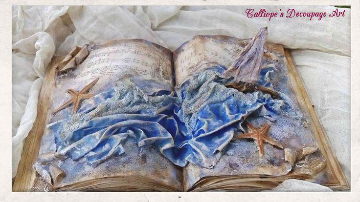 Διακοσμητικό Βιβλίο με Powertex   | Calliope's Decoupage Art