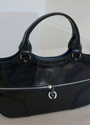 Kaufe meinen Artikel bei #Kleiderkreisel http://www.kleiderkreisel.de/damentaschen-and-rucksacke/handtaschen/152521501-schwarzer-lackleder-nylon-shopper