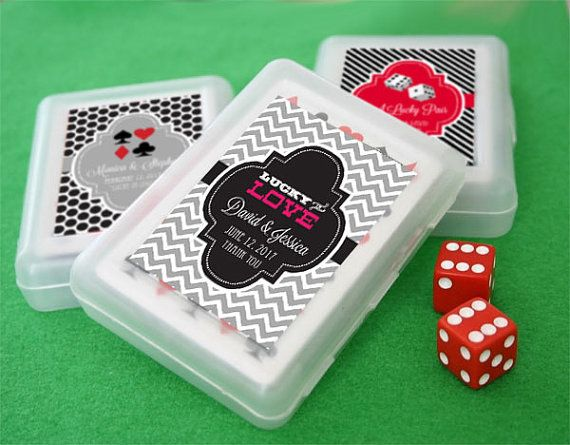 Las Vegas Wedding Favors will be a hit with these Vegas Theme Playing Cards! Whether youre having a vegas theme wedding or actually getting married in