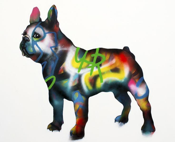 The Dog, by Swedish Artist Emma Tingård. Art, painting, portrait, art poster, art print