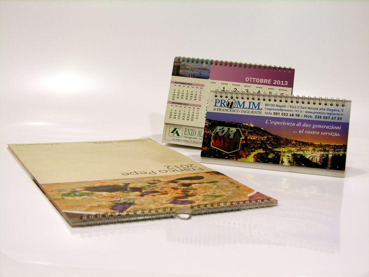Stampa di calendari da banco e da parete anche per bassissime tirature con stampa digitale OFFSET , puoi ordinarli sul nostro STORE