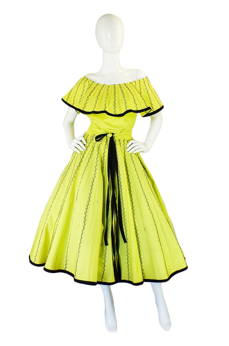 Popular fashion nails uxbridge - 1950s Yellow Cotton Mexican Skirt Top