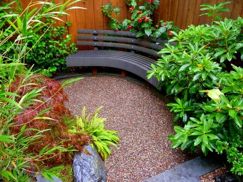 The U0027coveted Corneru0027 With Custom Curved Trex Bench By Sculpt Gardens San  Francisco