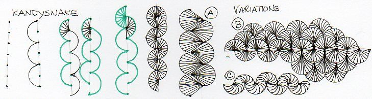 zentangle - kandysnakeKandysnake Zentangle, Zentangle Fans, Kandysnak Zentangle, Zentangle Doodles, Oklahoma Zentangle, Zentangle Tutorials, Zentangle Patterns