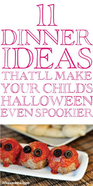 11 Dinner Ideas That'll Make Your Child's Halloween Even Spookier