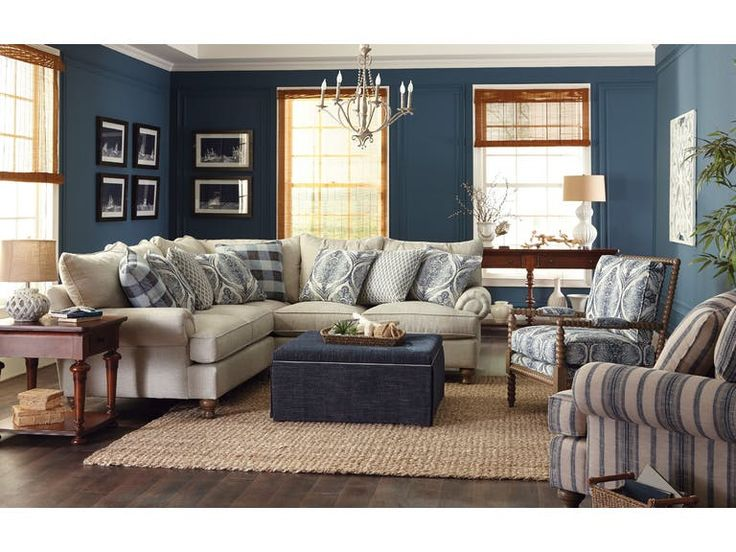 Delightful Southern Farmhouse Sectional By Craftmaster. Get Your Southern Farmhouse  Sectional At Plantation Furniture, Richmond TX Furniture Store.