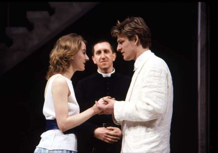 Sean Bean and Niamh Cusack as Romeo and Juliet, in the Royal Shakespeare Company's 1986