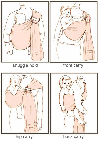 positions to use a baby ring sling - Google Search