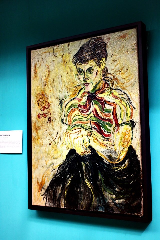 a European Lady by Affandi