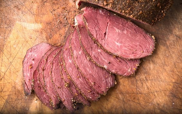 """goose pastrami recipe """"If there is one perfect recipe for Canada goose breasts, this is it. Pastrami. It's a staple in delis all over the country, and it is normally cured beef (like corned beef), that's then coated in coriander and black pepper and smoked. Well, it's just as good with a goose breast!"""""""