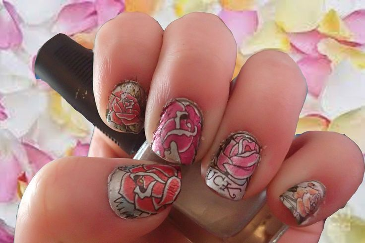 Ever considered putting temporary tattoos on your nails?