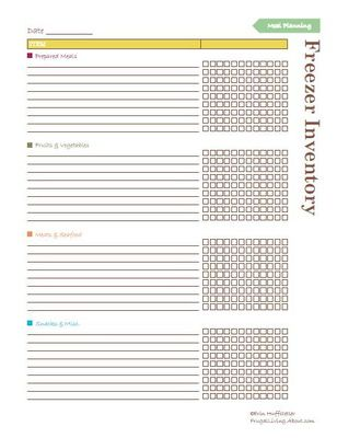 65 best Printables images on Pinterest Organizers, Cleaning and - food inventory template