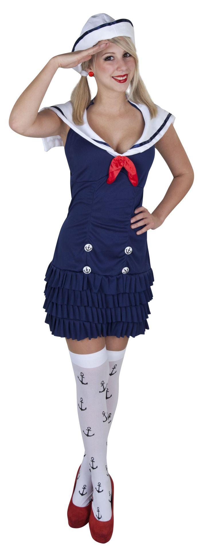 Kostüm Matrosin für Erwachsene 2tlg