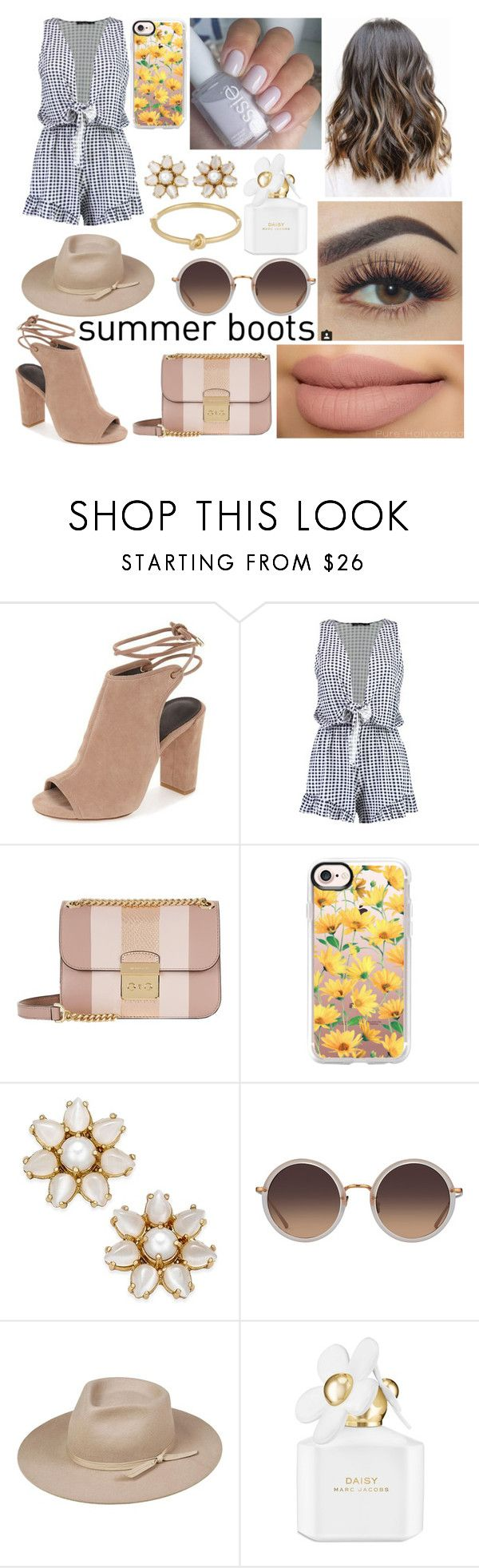 """Walk This Way: Summer Booties"" by emily5302 ❤ liked on Polyvore featuring Boohoo, Michael Kors, Casetify, Kate Spade, Linda Farrow, Lack of Color, Marc Jacobs and summerbooties"