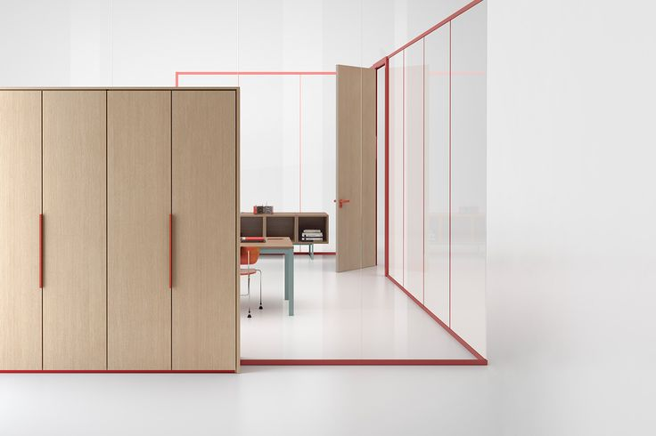 Wallsystem partition with Lobster profile #humanoffice #focusoncolor