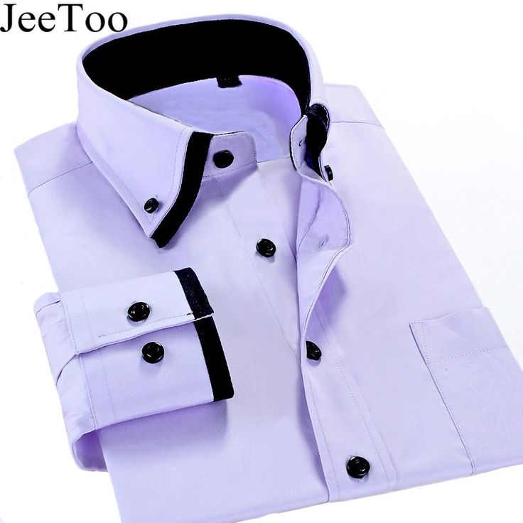 New Arrivel 2017 Mens Work Shirts Brand Long Sleeve Formal Business Men Dress Shirts White Male Shirt Plus Size 5XL Casual Shirt
