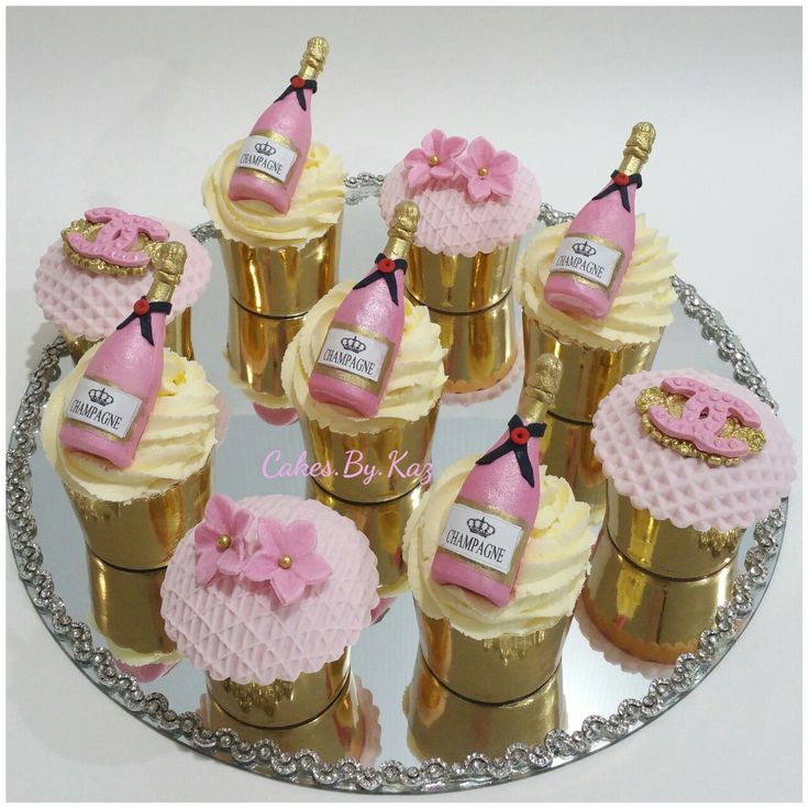 Pink Champagne Cupcakes Champagne Bottles Made From