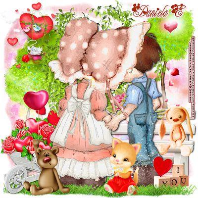 """MI RINCÓN GÓTICO: CT for Pink.Doll.Bubble & CT for Daniela E Designs, """"""""I Love Valentine"""""""""""