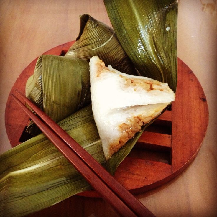 zhongzi, Chinese dumpling, sticky rice with meat stuffed inside