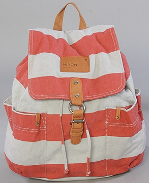 adorable backpack: Red Stripes, Cute Backpacks, Diapers Bags, Coral Stripes, Adorable Backpacks, Summer Bags, Stripes Backpacks, Beaches Bags, Leather Backpacks