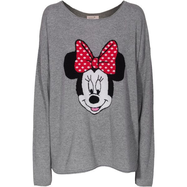 Rosa von Schmaus Minnie OS Grey Patterned cashmere sweater ($205) ❤ liked on Polyvore featuring tops, sweaters, shirts, disney, oversized cashmere sweater, shirts & tops, roll top, oversized shirt and oversized grey sweater