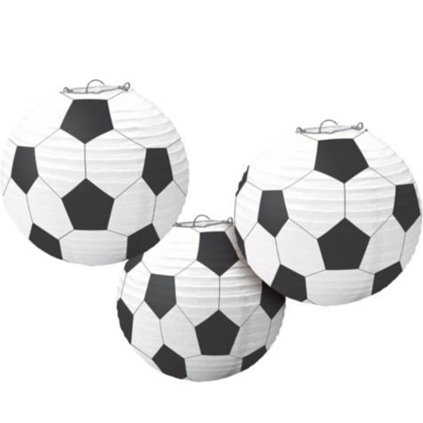 Soccer Paper Lanterns 3ct - Party City