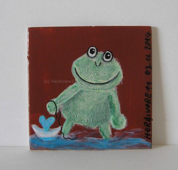 FROSCH VERLIEBT von Herbivore11 Inchie Frosch Frösche Liebe Herz Schiff Frog süß