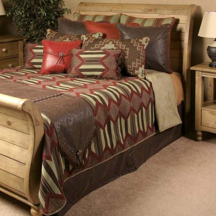 Tribe Red Rustic Bedding Set
