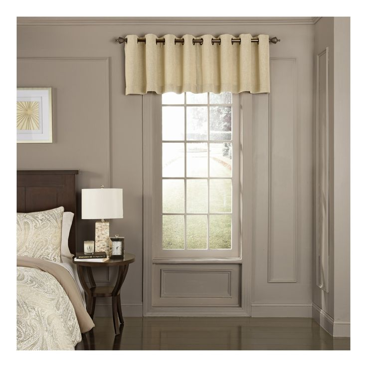 Bring elegant tranquility into your home with the Beautyrest Arlette Blackout Window Valance. This gorgeous valance combines versatile fabrications and blackout woven yarns to create the ultimate sleeping environment. This updated traditional valance features a heathered solid texture with slight luster. 1.65 inch oil rubbed grommets are recommended with up to a 1 inch rod for maximum movement. Valance measures 52 inches wide by 18 inches long. Sold as a single, unlined valance. 100%…