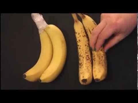 Frischhaltetrick für Bananen I Die Lagerung macht den Unterschied - YouTube