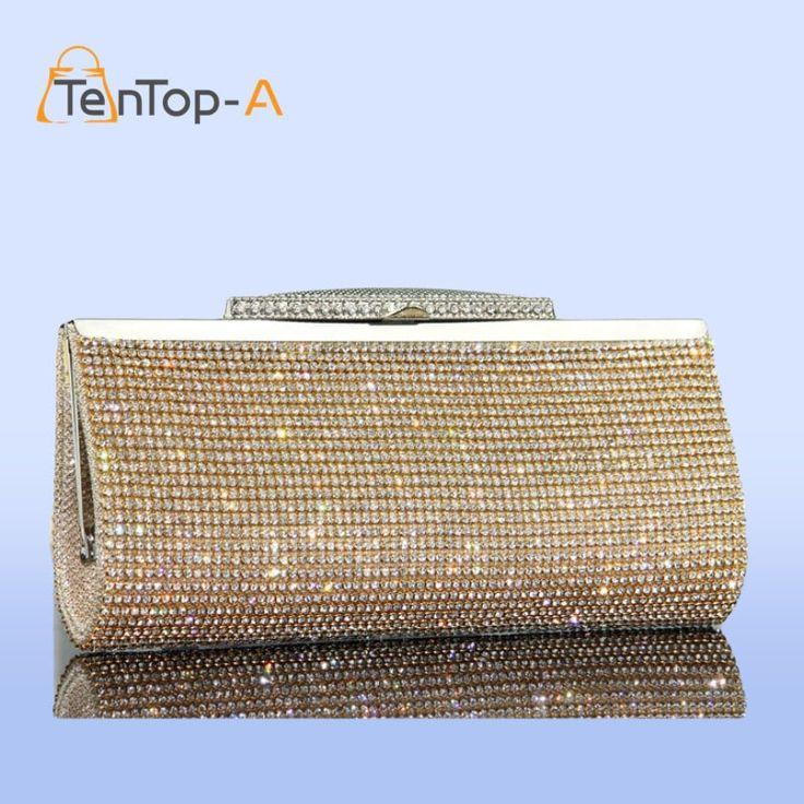 Women's Best Selling Good Quality Full Rhinestone Diamond Clutch Purse //Price: $36.95 & FREE Shipping //     #style