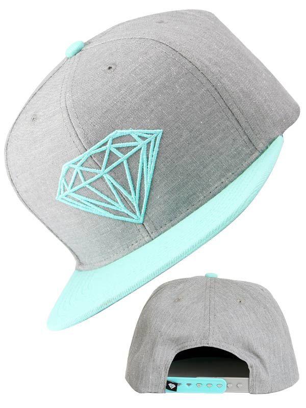 Casquette Diamond Supply Co Brilliant grise #DiamondSupply