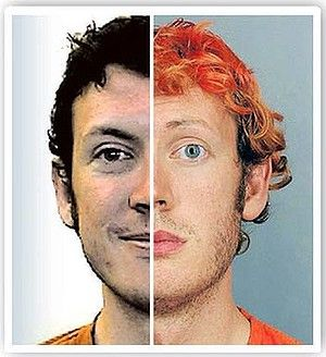 "COLORADO SHOOTING APPEARS TO BE AN ORGANIZED OPERATION. Stephen Cook sends along this photo from the Sydney Morning Herald which shows two ""views"" of the shooter. Stephen points out that the two photos show different people--different eye shapes and colour, eyebrows, ear shape, noses--which suggests that James Holmes was not the shooter and that the shooter was a ""Manchurian Candidate"" substituted for the real James Holmes, whose fate is unknown."