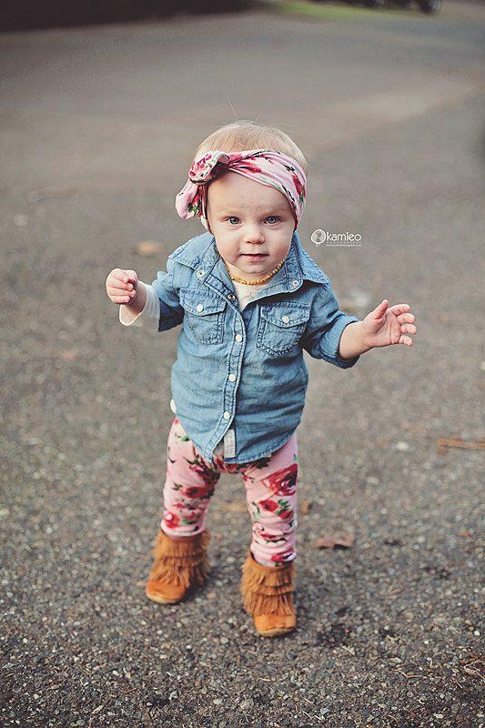 Handmade Red Roses on Dusty Pink Baby Leggings by SweetLucyJack