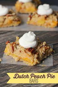 Dutch Peach Pie Cobbler from I Dig Pinterest-- from Gardners 2 Bergers: The Handmade Hangout Features #3