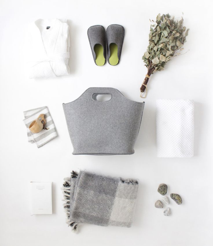 Cottage bag and Unisex slippers for Finnish summer cottages