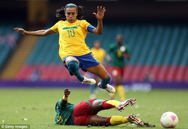 Impressive: Brazil captain Marta #futbol #futebol #fussball #marta #brazil
