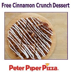 FREE Cinnamon Crunch Dessert at Peter Piper Pizza on http://hunt4freebies.com