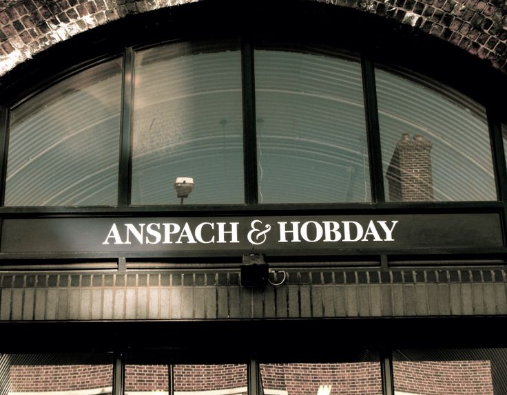The signage out the front of Anspach & Hobday - a very small new microbrewery based in Bermondsey in South London