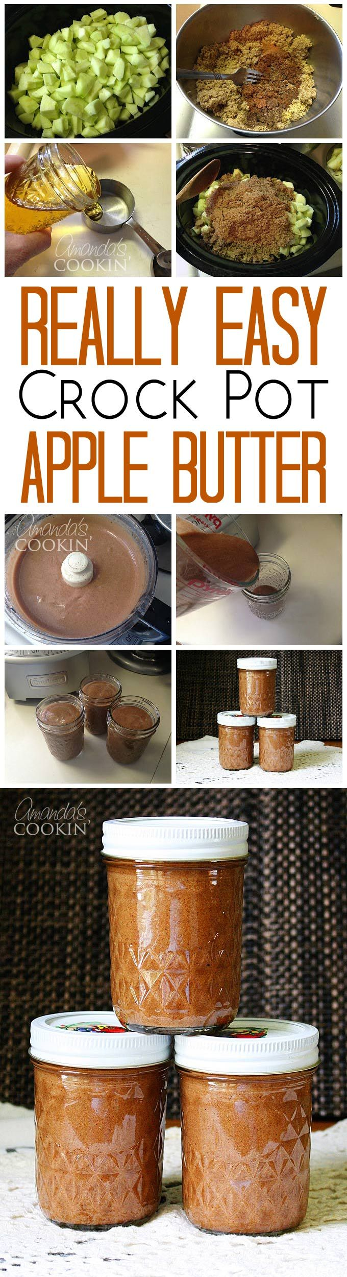 This apple butter recipe for the crock pot is as easy as it is delicious. And it freezes well!