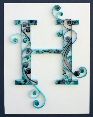 Any letter craft. Here's a tutorial. too cool!