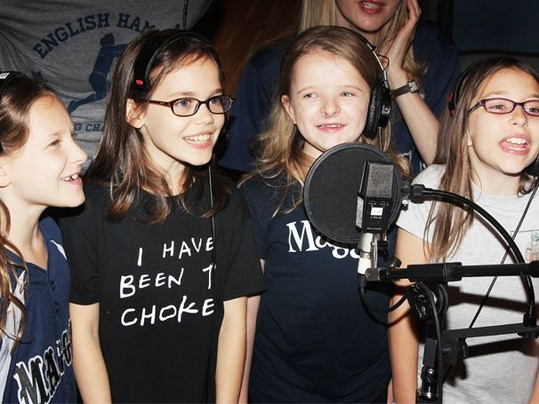 Chokey chant! Check out the stars of MATILDA as they record their Broadway cast album