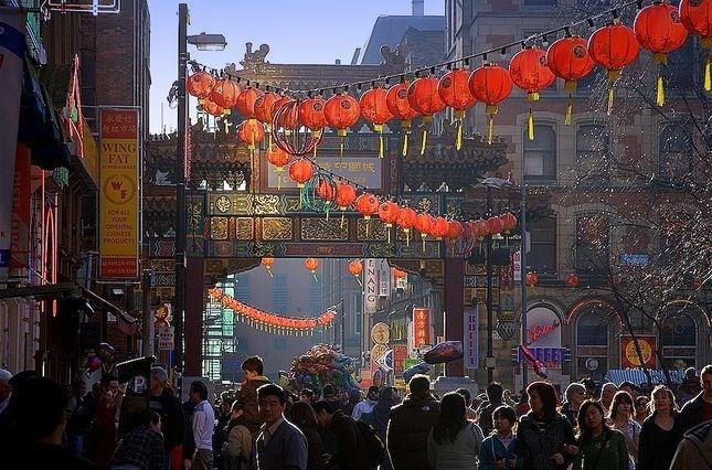 manchester, uk- chinatown