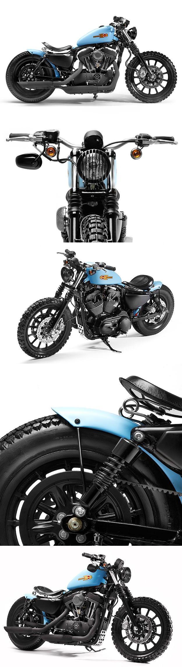 Harley-Davidson Sportster XL1200R 2006 customizada pela equipe da inglesa Shaw Speed Custom. Shaw Speed & Custom Sportster XL1200R http://www.bikeexif.com/harley-1200-sportster