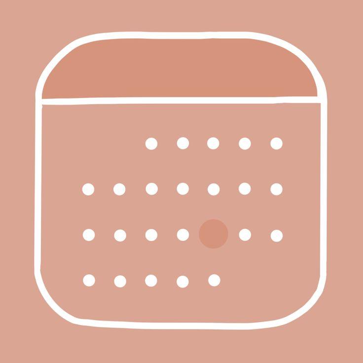 Aesthetic calendar app icon iphone photo app app icon