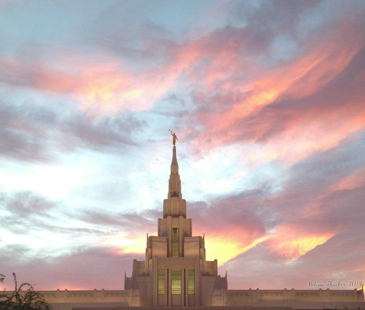 Phoenix Temple Spire Sunset | I Love to See the Temple ...