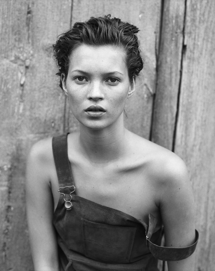 Kate Moss in overall dress Fashion Styling Fashion Editorial