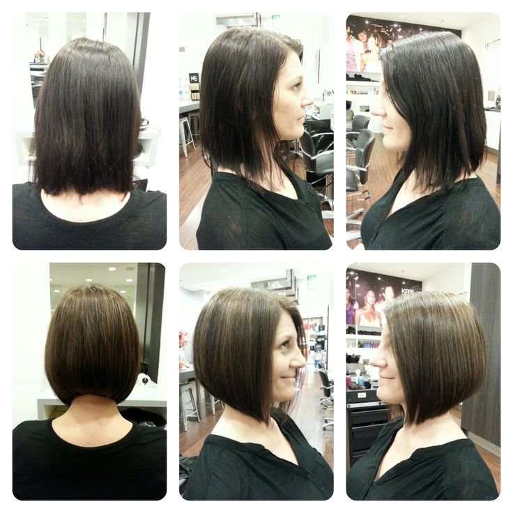 Before & After  #brown #bob #concave #solid