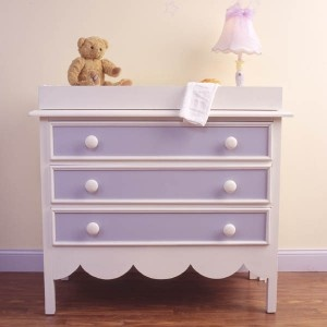 Refinished girls dresser