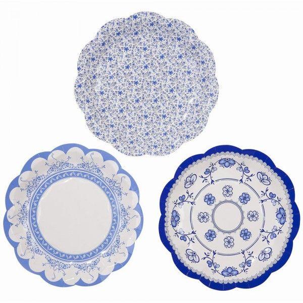 Porcelain Style Blue Paper Party Plates x 8 - Wedding / Party / Celebrations - Small  sc 1 st  Pinterest & 18 best Paper Plates images on Pinterest | Paper plates Afternoon ...